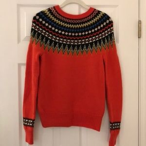 J. Crew Fair Isle Sweater Size S